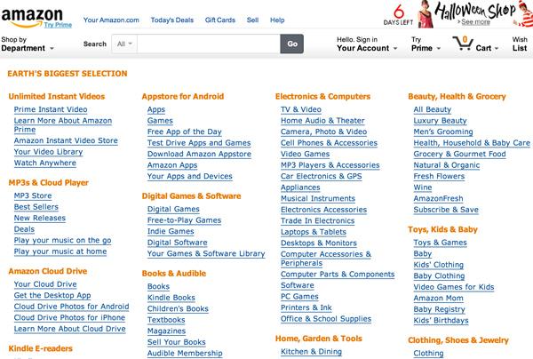 amazon sitemap